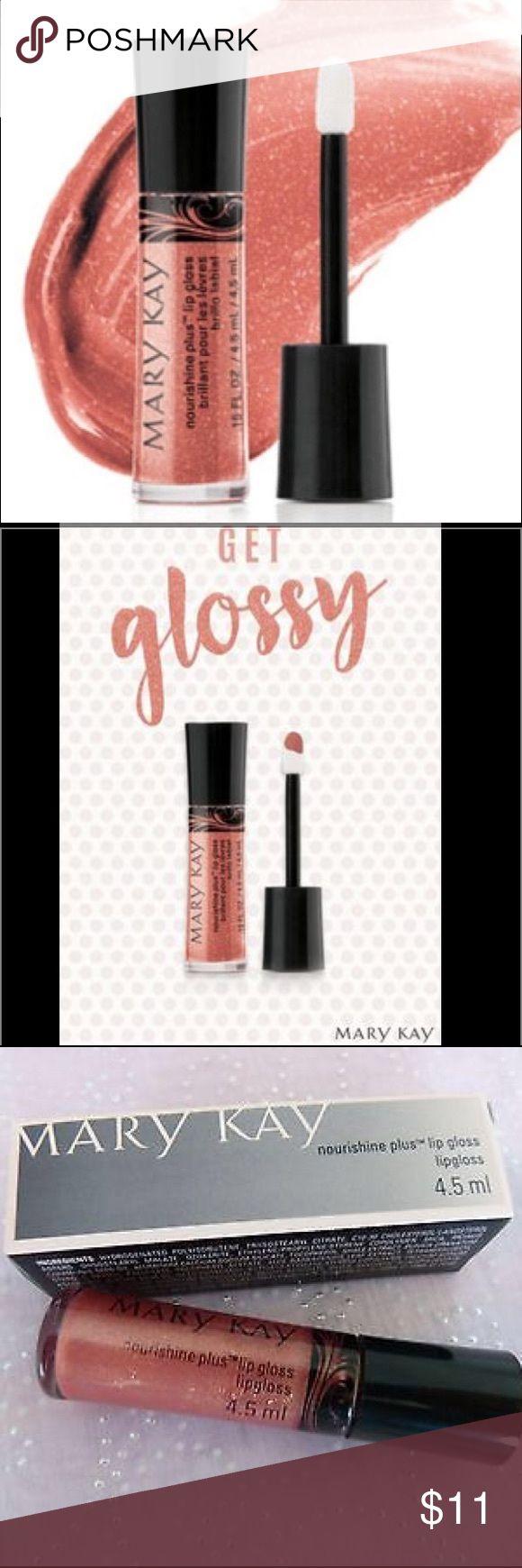 "NouriShine Plus® Lip Gloss Fancy Nancy New in a box Mary Kay NouriShine Plus® Lip Gloss ""Fancy Nancy"" Mary Kay Makeup Lipstick"