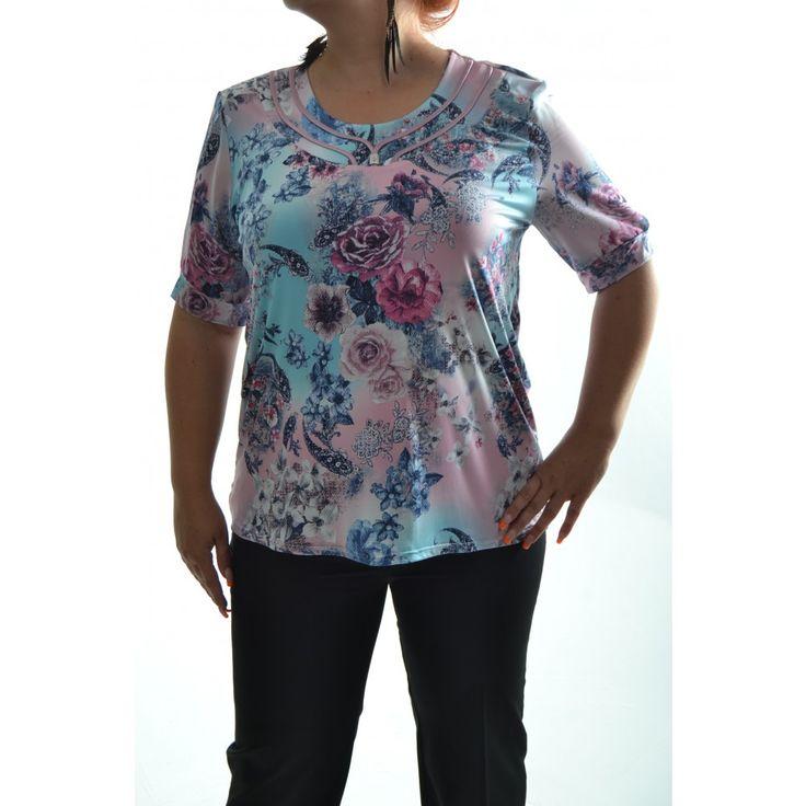 Dámske elastické tričko - viacfarebné