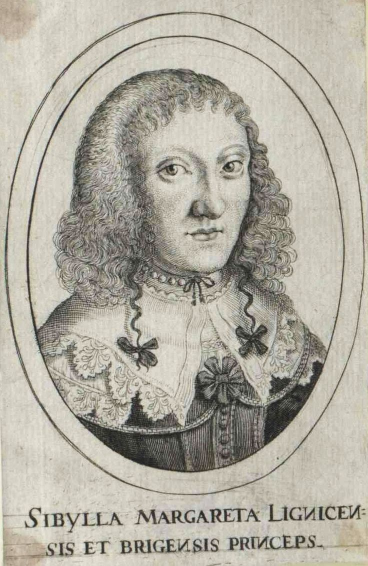 Sibylle Margarethe of Liegnitz-Brieg (Legnica-Brzeg) (Sybilla Małgorzata Piastówna) by Anonymous, ca. 1637 (PD-art/old), Österreichische Nationalbibliothek, second wife of Gerard Denhoff (Gerhard von Dönhoff), Voivode of the Pomeranian Voivodeship