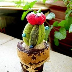 pin cushion: Flower Cactus, Cactus Pincushion, Crafts Ideas, Pin Cushions, Pincushion Tutorials, Flower Crafts, Meijo Joy, Pincushion Tape, Crafty Ideas