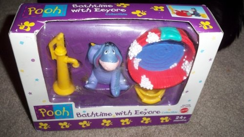 Bathtime with Eeyore Collectible Figure Set - Pooh From Mattel