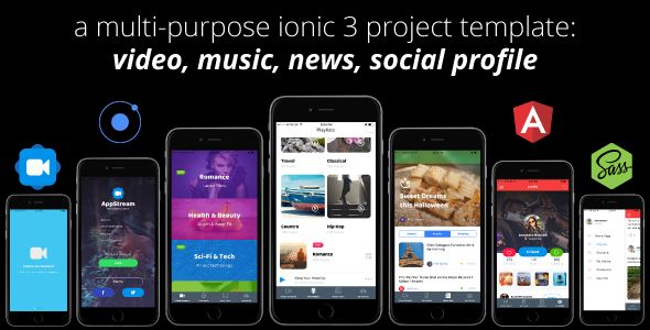 [Download] AppStream – Ionic 3 Streaming App Template source code