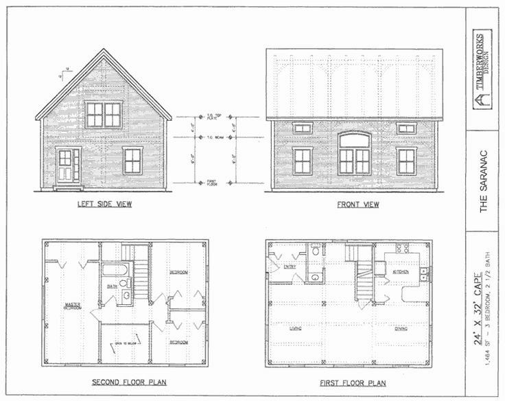 24 X 32 House Plans Awesome 26 X 40 Cape House Plans In 2020 Cape House Plans Beach Style House Plans Two Story House Plans