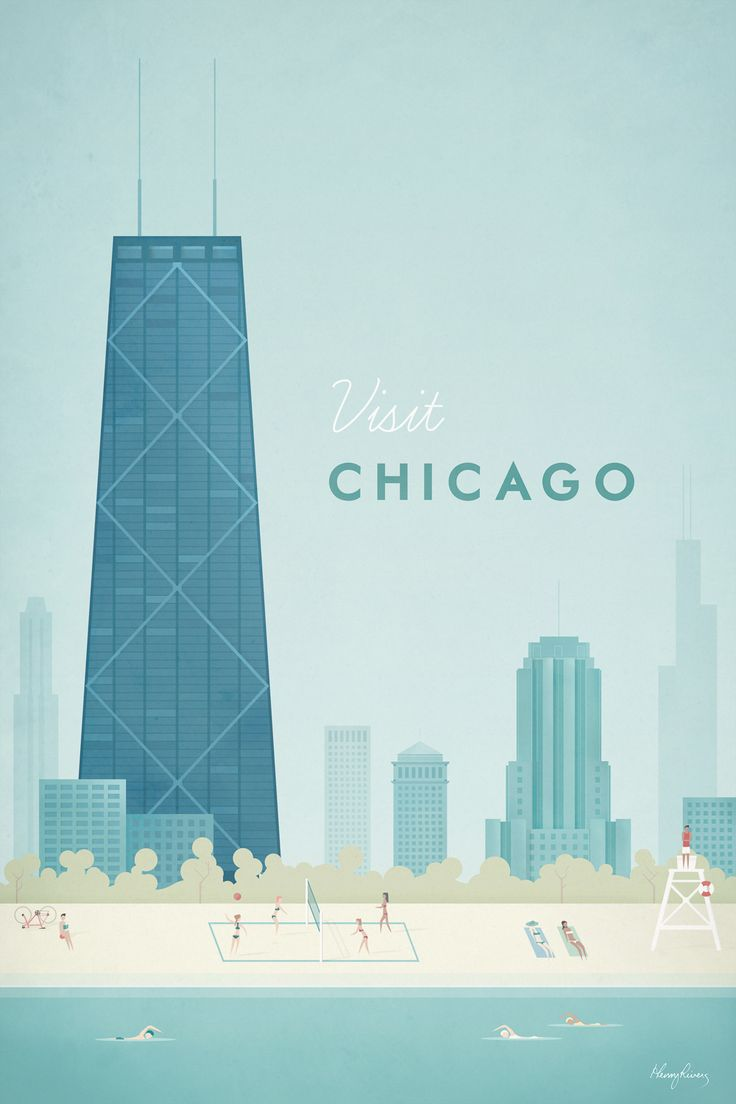 Chicago by Henry Rivers - canvas print