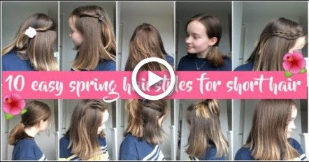 10 easy, quick and simple spring hairstyles for short/shoulder length hair!