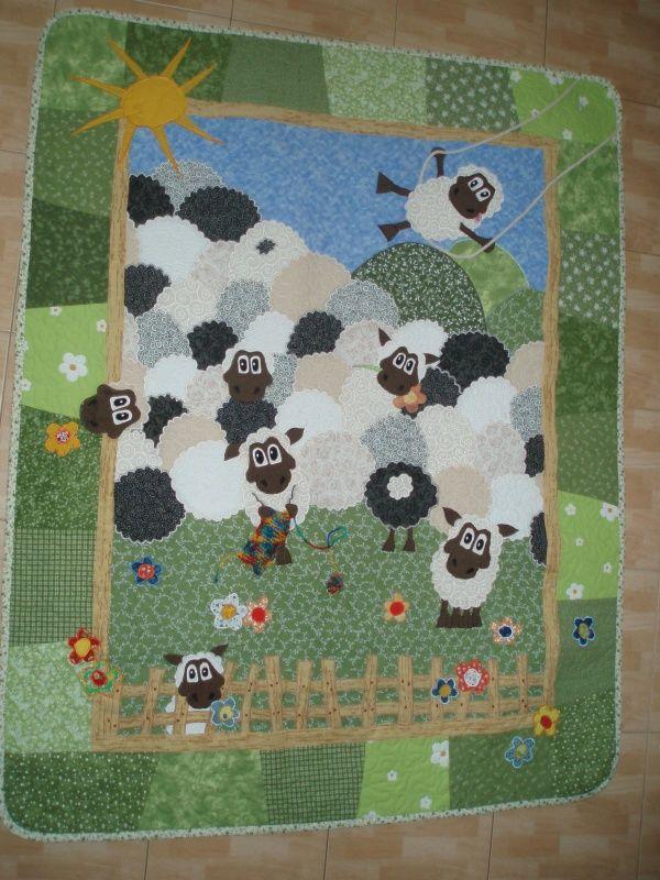 388 best Children's quilts images on Pinterest | Baby quilts ... : sheep quilt pattern - Adamdwight.com