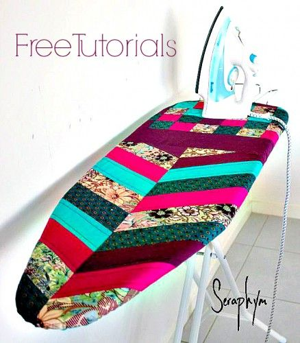 Quilted Herringbone Ironing Board Cover - Free Pattern by Seraphym HM   PatternPile.com