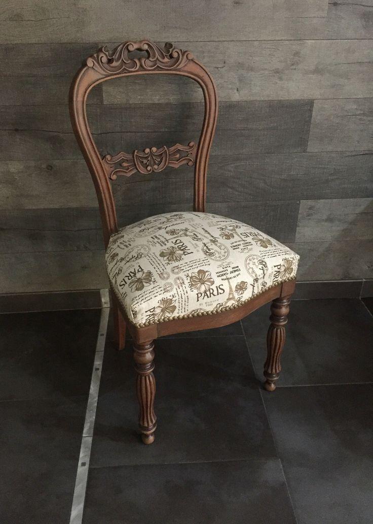 Chaise Ancienne Paris Bois Marron Lin Beige Shabby Chic Meubles Et Rangements Par Monautrefois Meuble De Style Chaise Salle A Manger Mobilier De Salon