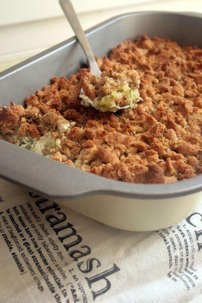 crumble salé courgettes boursin parmesan