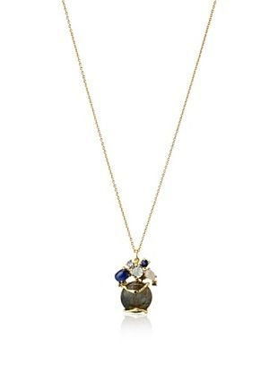 60% OFF Indulgems Labradorite with Kyanite, Blue Topaz & Rainbow Moonstone Cluster Pendant Necklace