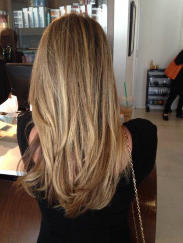 balayage sur cheveux blond lisse. Black Bedroom Furniture Sets. Home Design Ideas