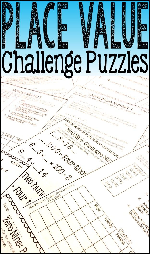 174 best live laugh math tpt resources images on pinterest basic place value challenge puzzles are a fun way to challenge your students while they gain a fandeluxe Gallery