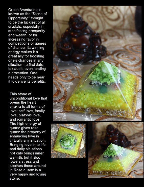 Orgonite Pyramid orgone generator Positive energy by GloriousTymes