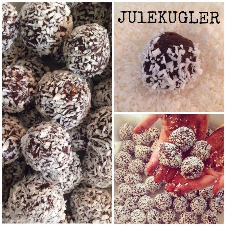 { veganske, glutenfrie & uden tilsat sukker} Disse sunde julekugler med kokoser et perfekt alternativ til de traditionelle kokoskugler.Deer en lækker