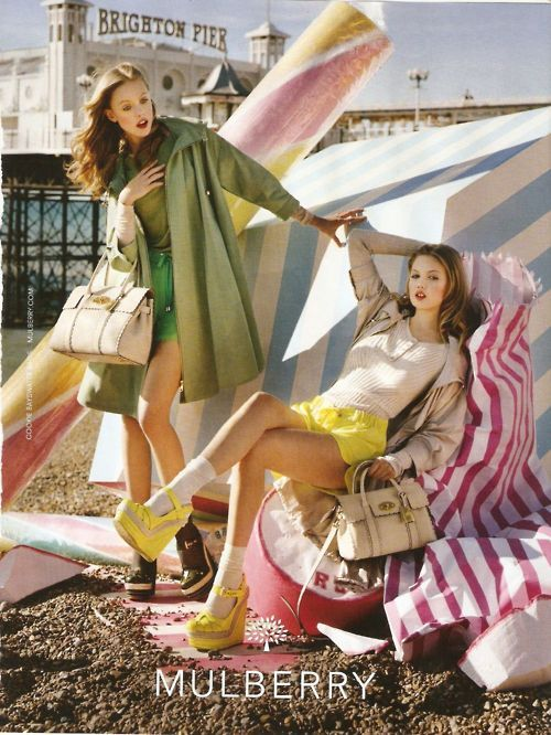 suicideblonde:    hfgl:    Mulberry S/S 2012    Frida Gustavsson and Lindsey Wixson photographed by Tim Walker