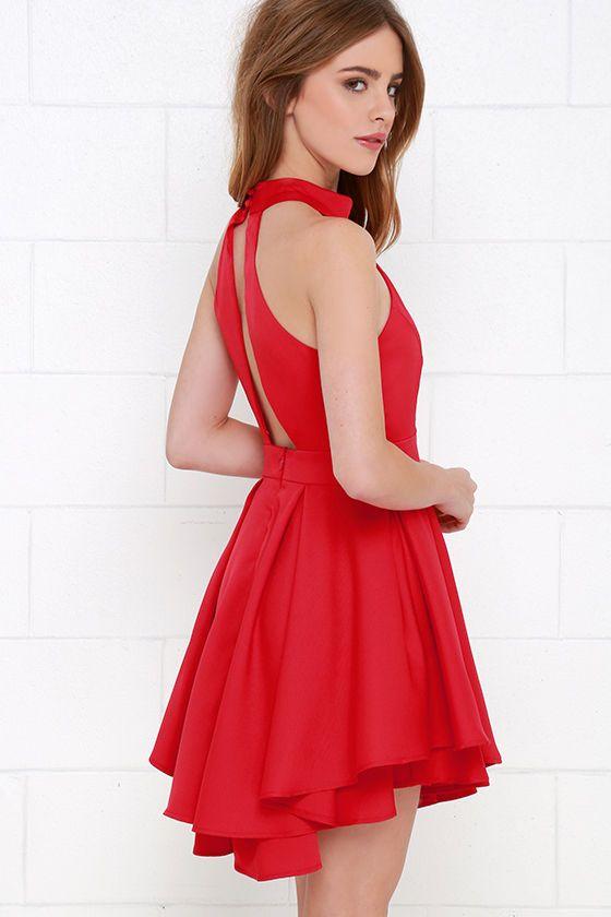 Dress Rehearsal Red Skater Dress at Lulus.com!