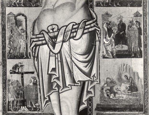 Coppo di Marcovaldo - Crocifisso di San Gimignano, dettaglio - c. 1264 - tempera e oro su tavola - Musei Civici, San Gimignano