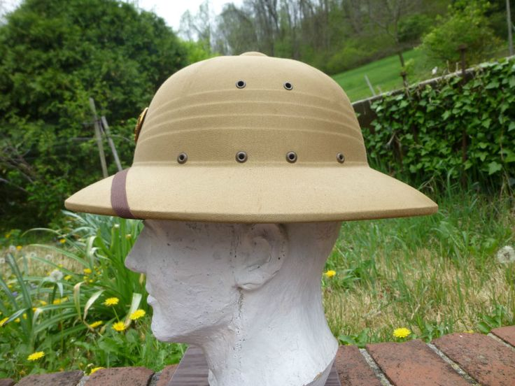 Vintage 1948 US Army Military Safari Hat Pith Helmet Army Air Corps ? Post WWII
