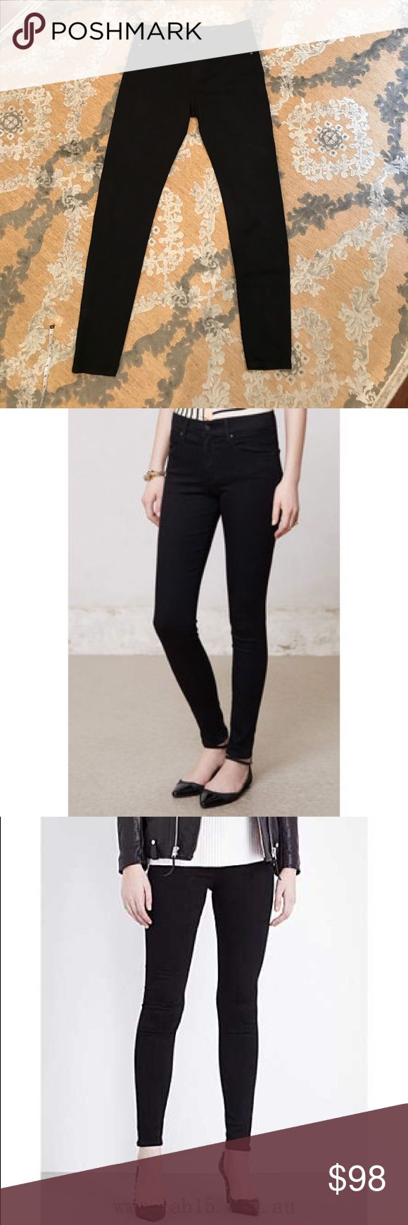 """AG Farrah High Rise Skinnies!!! 👖 These jeans are sexy and soooo comfortable!!! Gently worn a few times but in great condition!! Crafted in jet-black denim, these jeans boast a waist-defining high rise and a sleek, skinny fit that ends perfectly at the ankle! True to size. Inseam - 31"""" Front Rise - 9.75"""" Leg Opening - 9.5"""" AG Adriano Goldschmied Jeans Skinny"""