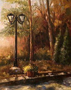 Courtyard View by Lisa Price Oil ~ 10 x 8 Plein Air