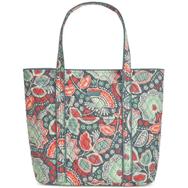 Vera Bradley Vera 2.0 Tote ($86) ❤ liked on Polyvore featuring bags, handbags, tote bags, nomadic floral, vera bradley, white purse, floral purse, vera bradley tote bags and floral print purse