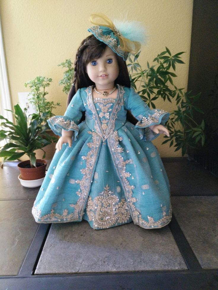 Victorian Dress for American Girl Doll.