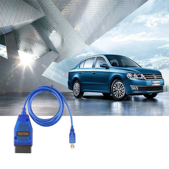Pupular VAGCOM USB KKL 409.1 OBD2 Samochodów Sprawdź Kabel USB Skaner OBD2 Narzędzie Plastikowe Niebieski