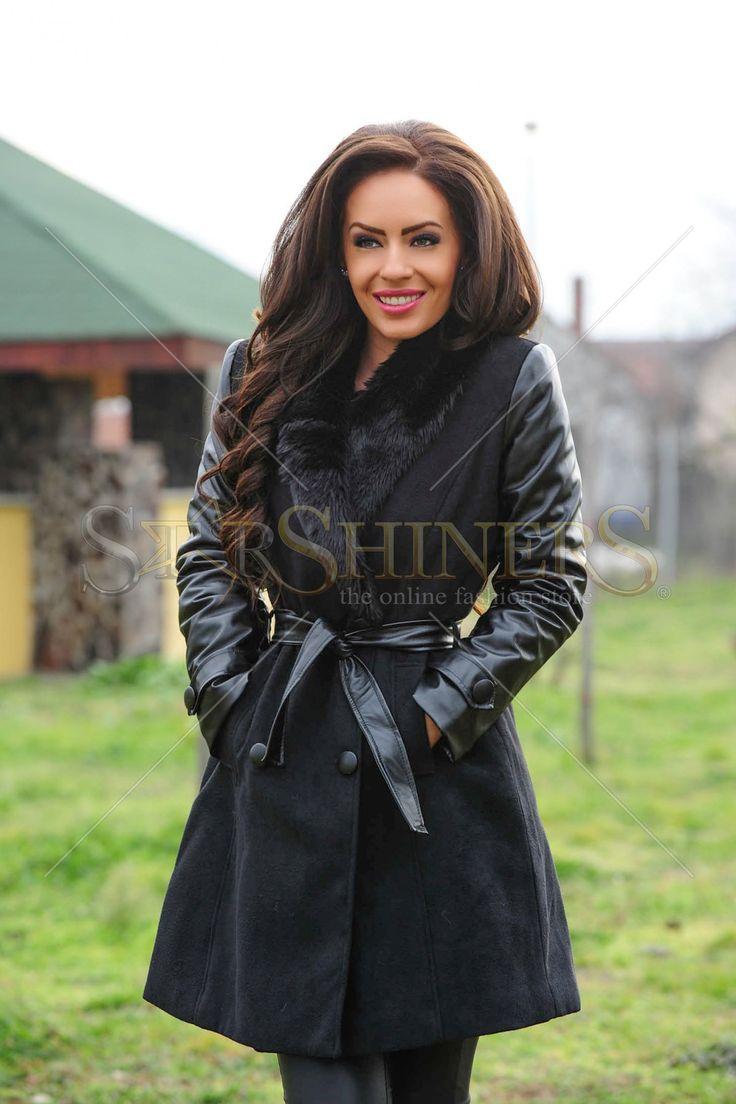 Fofy Heated Weather Black Coat