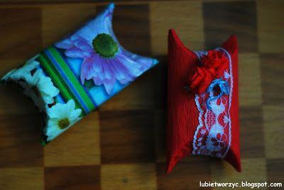 Pudełko z rolki po papierze toaletowym  #box #giftbox #roll #toiletpaper #papiertoaletowy #pudelko #DIY #instruction #howto #lubietworzyc #handmade