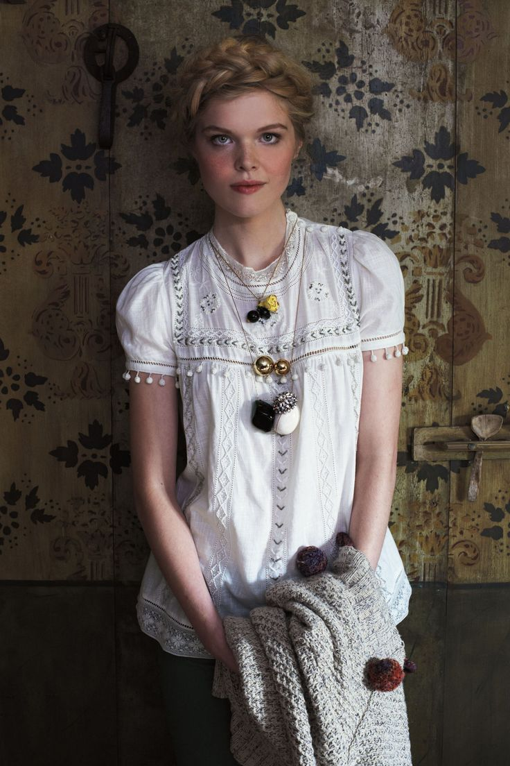 glinted peasant blouse. #anthrofave