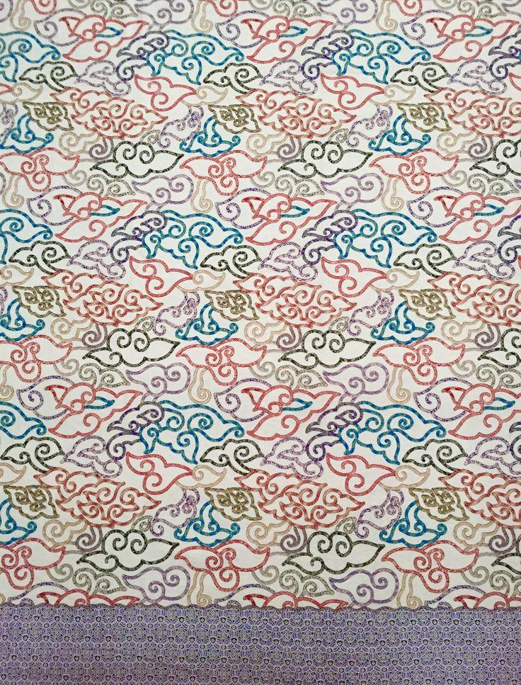 Batik Cirebon, Indonesia - motif Mega Mendung