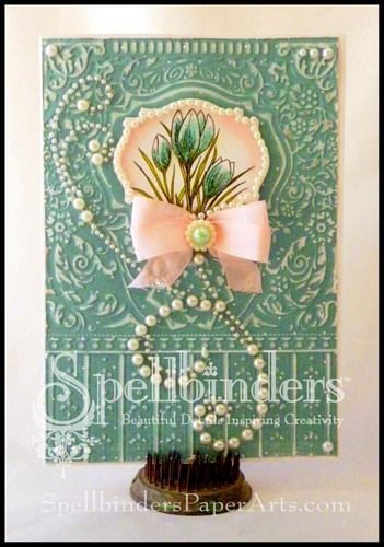 Card created by Linda Lucas and posted on Spellbinders web site today.