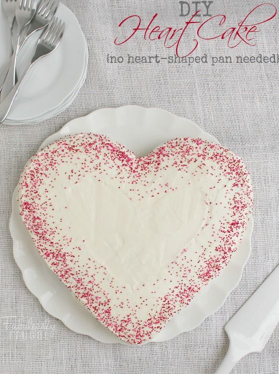 How to Make a Heart-Shaped Cake {Without a Heart Pan}! Easy, fun dessert for Valentine's Day!