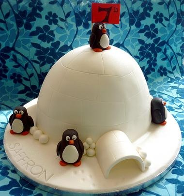 Penguin cake - for my bday!?!?