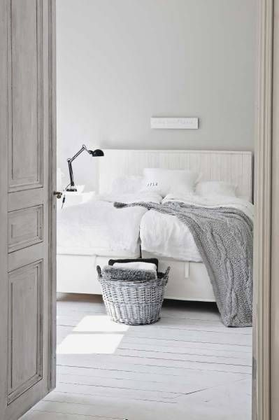 Would love this AS A DAY BED. Perhaps take twin matrice, box spring covered in white. OR buy trundle bed frame lay bed and box spring then make, buy and PLACE square HEADBOARD. bedroom, gray and white: via delikatissen