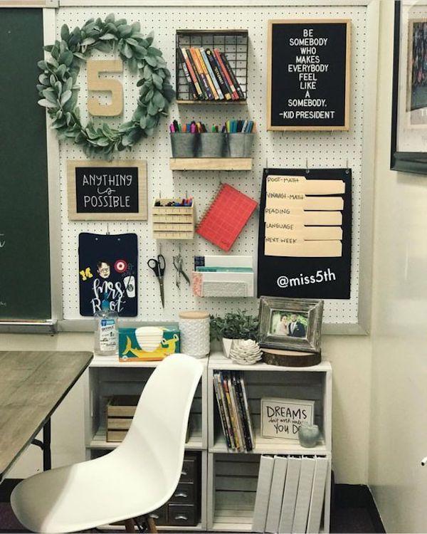 Custom Teacher Desk Organizers Organized Classroom Classroom Decor Teacher Desk Organization Classroom Design