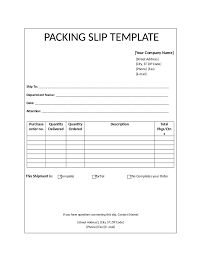Packing slip template, free blank receipt templates