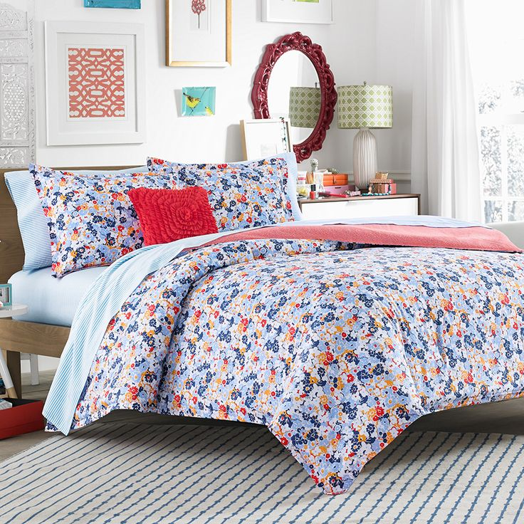 Teen Vogue Floral Frenzy Comforter Set Beddingstyle