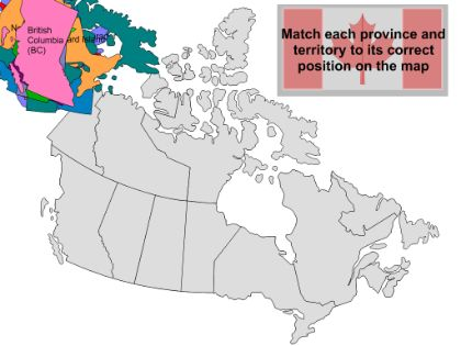 Canada's provinces & capitals SMARTBOARD game