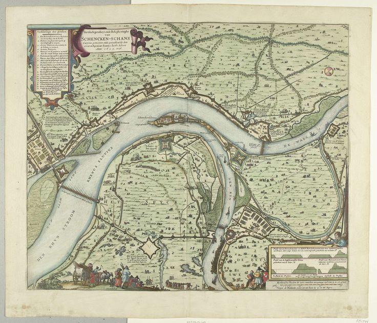 Kaart met beleg en verovering van Schenckenschans door Frederik Hendrik, 1635-1636, Claes Jansz. Visscher (II), 1636
