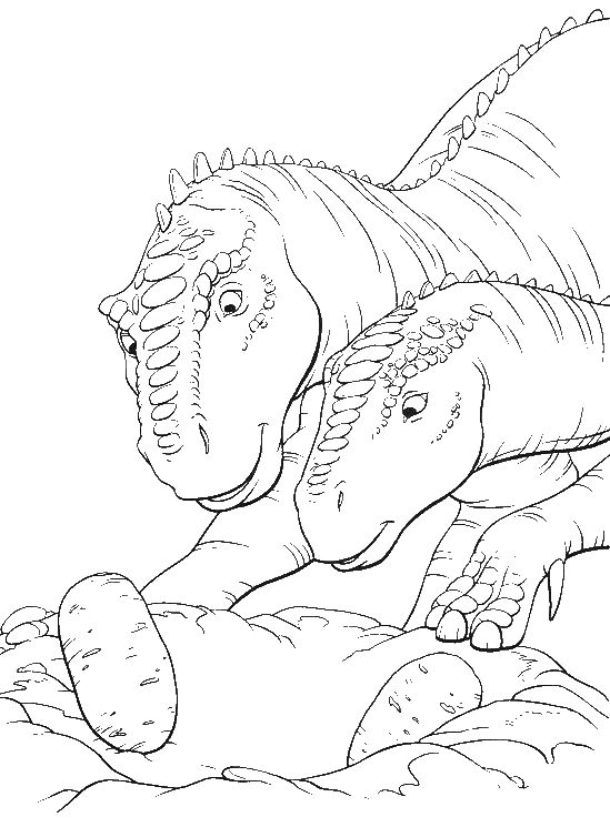 aladar is very pleased to see the healthy eggs coloring pages dinosaur coloring pages - Disney Dinosaur Coloring Pages