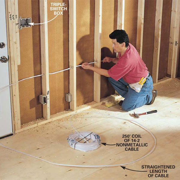 You can save a lot of money by doing your own wiring. Here we'll show you to wire an entire room.
