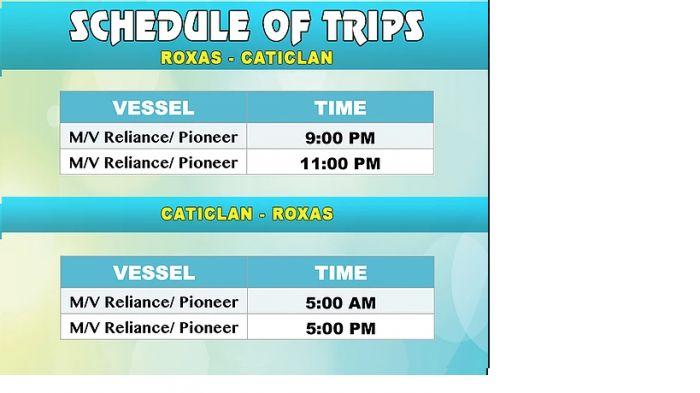 Starlite Ferry Roxas Mindoro to Caticlan Schedule