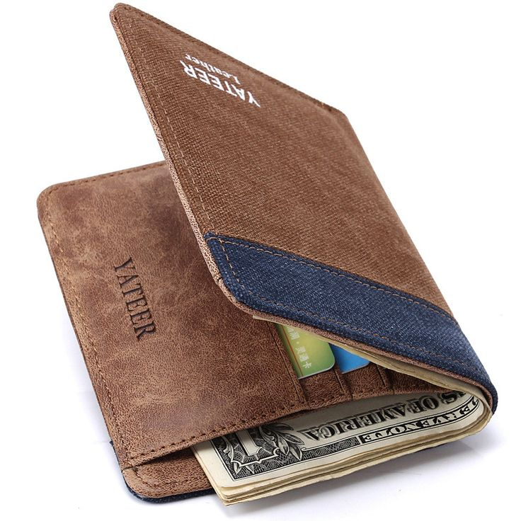 2015 Fashion Men's Wallets Denim Canvas Thin Men's small Wallet Men's Purses Short Mini Male Wallet Male Quality Money Purses *** You can get additional details at the image link.