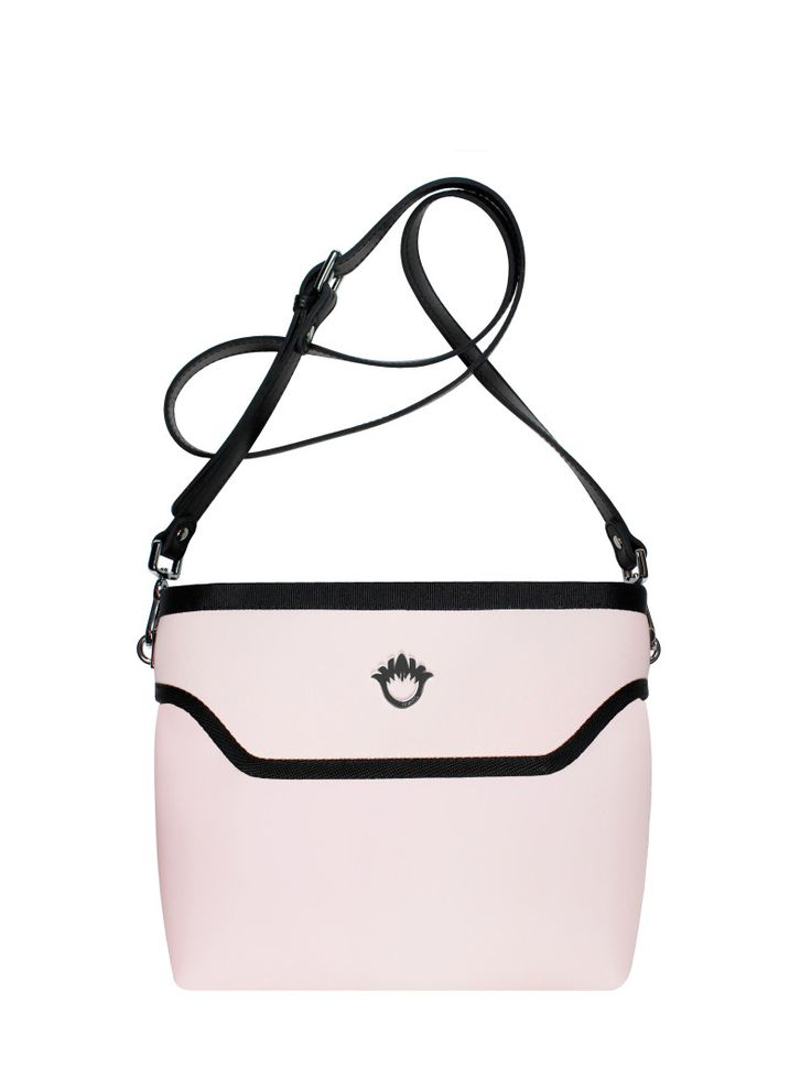 GOSHICO, ss2015, Flowerbag (cross body bag), pastel pink. To download high or low resolution product images view Mondrianista.com (editorial use only).
