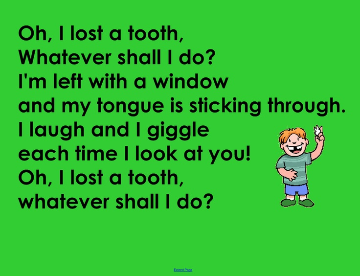 Lost A Tooth Song School Ideas Pinterest Teeth