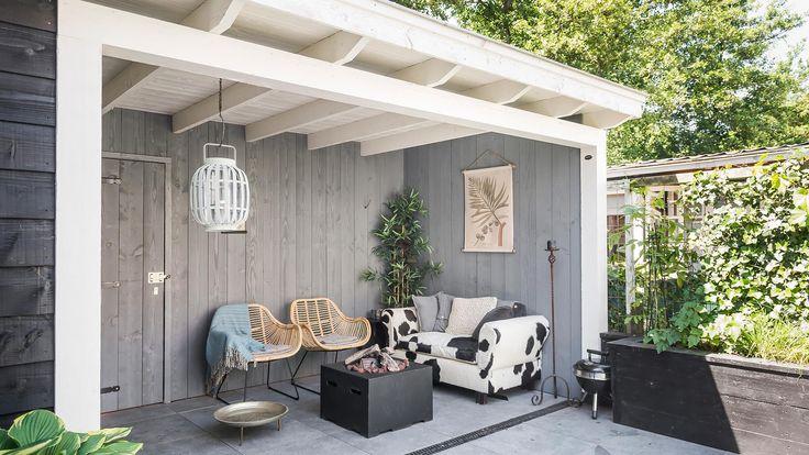 17 best images about veranda berging overkapping carport houten bijgebouwen on pinterest - Veranda met dakpan ...