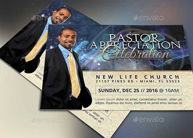 Starlight Pastor Anniversary Flyer Template Vol  Is Great For
