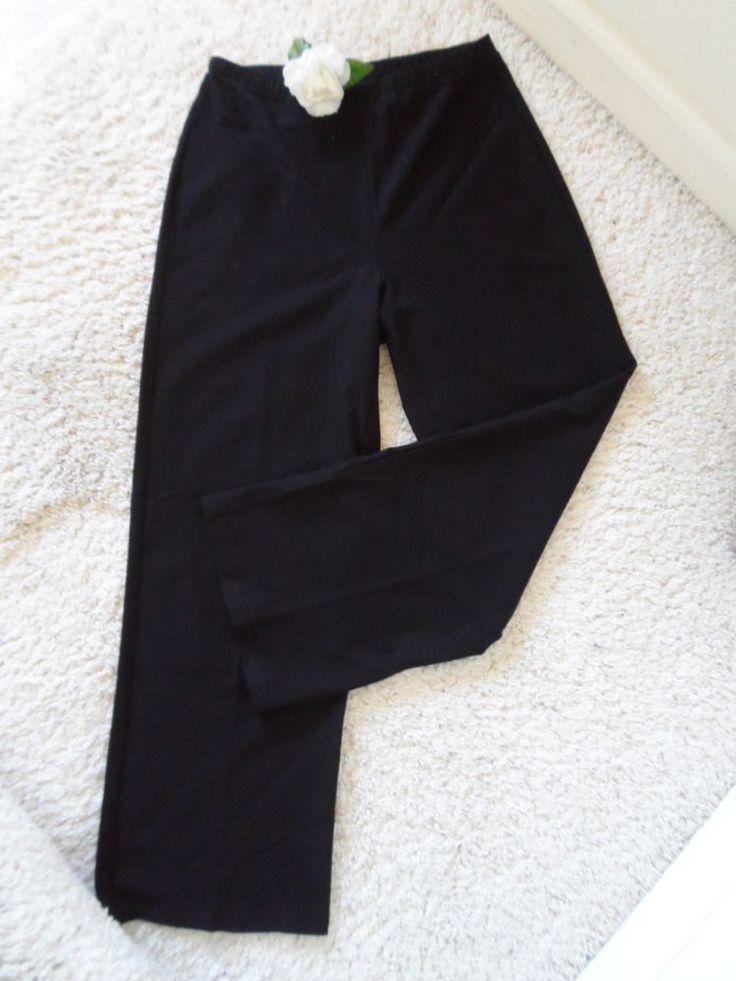 EILEEN FISHER PANTS P~EILEEN FISHER BLACK DRESS CAREER CASUAL PANTS P~90% NEW #EILEENFISHER #PantsTightsLeggings