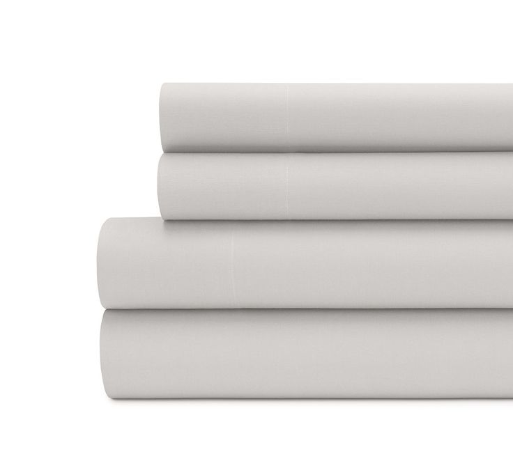 Solid Percale Sheet Set in Silver Grey - Percale Sheet Set online, best percale sheet sets online, buy Percale sheet sets online, buy colored percale sheet sets online, percale sheets online, Percale cotton sheet sets online, designer Percale sheet sets online, Percale sheet sets at best prices